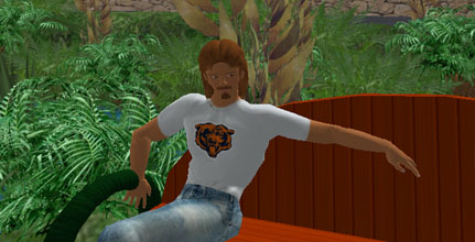 Avatar wearing chicago bears shirt