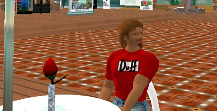 Avatar wearing Duff Beer Shirt