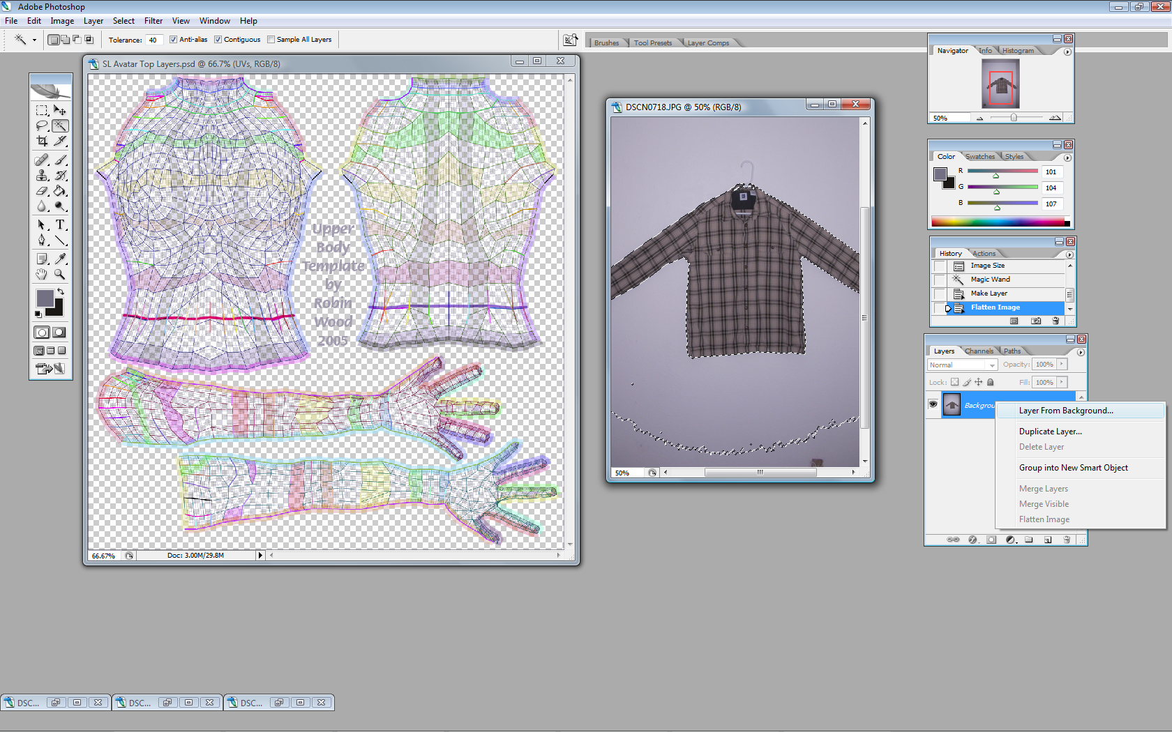 Advanced Clothing Tutorial for Second Life