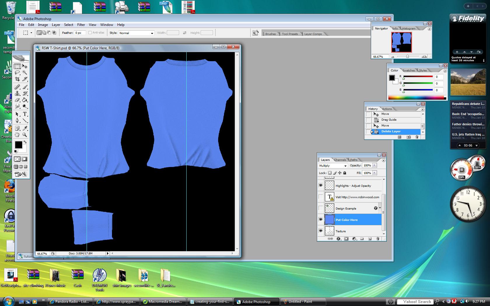 Shirt design on photoshop - T Shirt Tutorial